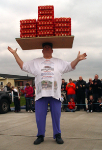 John's 65th Birthday Show & his new world record for headbalancing eggs...