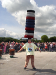 11 tyres for 13 seconds on his head hands free at Brands Hatch UK