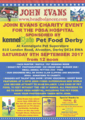 John Evans Charity Event for the PDSA Hospital sponsored by Kennelgate Pet Food Derby