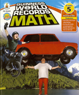 The book cover design for Guinness World Records Math