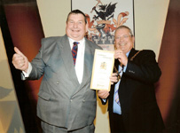 John Evans receiving prestigious award 2009