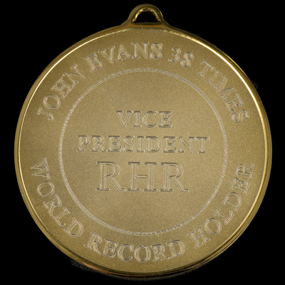 The new RHR Medal - back view example 2