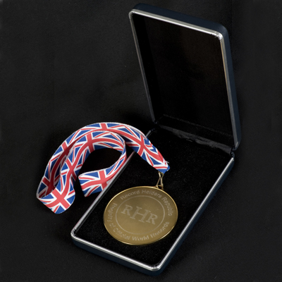 The new RHR Medal in presentation box