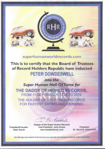 Super Human Certificate Peter Dowdeswell
