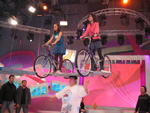 2 Girls on Bikes - October 24th 1999 - Weight 374LBS Guinness TV Show - Helsinki