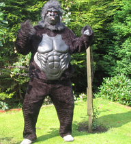 "For that special birthday surprise, why not have Johns ""Gorillaman"" character appear at your birthday party. Free treats and balloons for kid's parties."